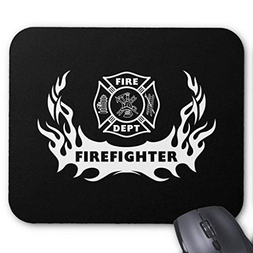 HGDGF Variety Firefighter Tattoo Mouse Pad 7.08X8.66 inches/18X22 cm,Non-Toxic Design