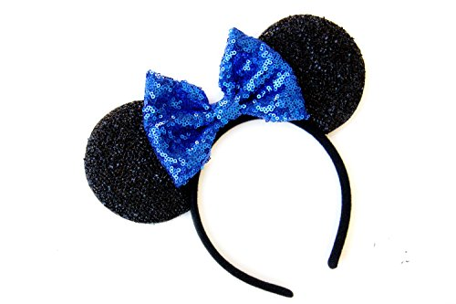 CLGIFT CL Gift Blue Mickey Ears, Rainbow Minnie Mouse Ears, Sparkly Minnie Ears, Mouse Ears, Electrical Parade Ears,]()