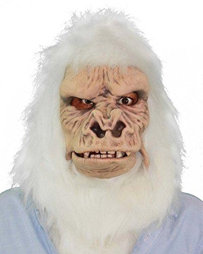- Zagone Studios MX4507 Albino Gorilla Mask Abominable Snowman Ape Mask