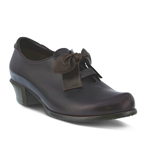 Spring Step Bow - Spring Step Women's Ilda Slip-On Loafer, Plum, 40 EU/9 M US