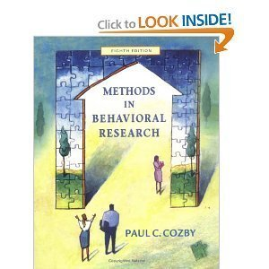 Methods in Behavioral Research 8th edition
