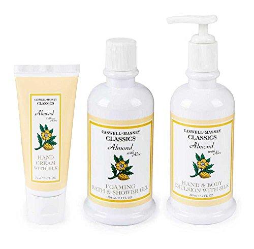 Caswell Massey Almond Aloe Bath Spa Gift Set Shower Gel H...