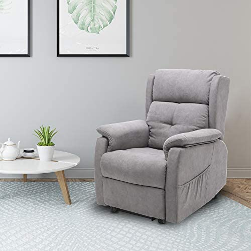 4HOMART Recliner Chair Adjustable Fabric Modern Living Room Zero Gravity Single Recliner Sofa