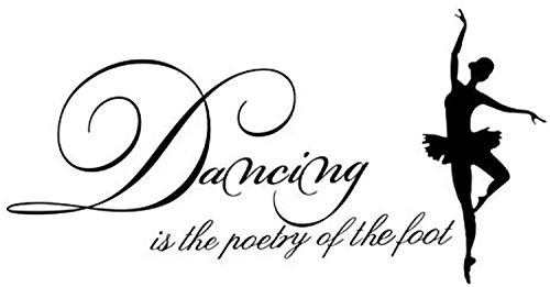 - Profit Decal Dance is The Foot of The Poetry Art Applique Ballerina Children's Room Modern Home Decoration Wall Decals Decor Vinyl Sticker Q8117