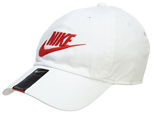 NIKE Mens Futura Washed H86 Adjustable Hat White/University Red 626305-100