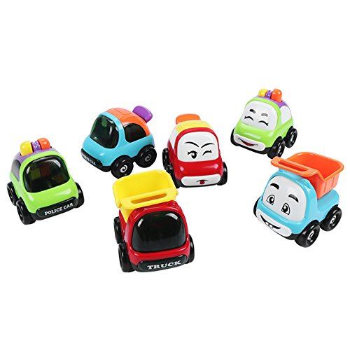 Little Bado Kids Vehicles Toy Car Toys and Trucks Play Set for Toddlers Mini Cars Toys Pull Back Vehicles for Tollders Best Toys Gift for 1 2 3 Year Old Boys and Girls and up
