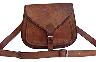 "13"" Brown Genuine Leather Vintage Women's Purse Bag Boho Western Hippy Clutch"