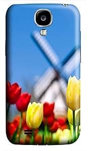 DIY Samsung S4 case Tulip Windmill 3D cover custom Samsung S4