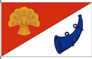 Mesa banderitas Lutz Horn–Soporte para banderas de mesa de madera