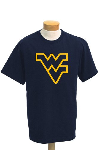 NCAA Men's West Virginia Mountaineers Biggies Short Sleeved T-Shirt (Navy, X-Large)