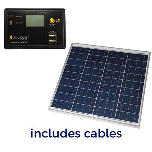 Grape Solar GS-50-KIT Off-Grid Solar Panel Kit, 50W