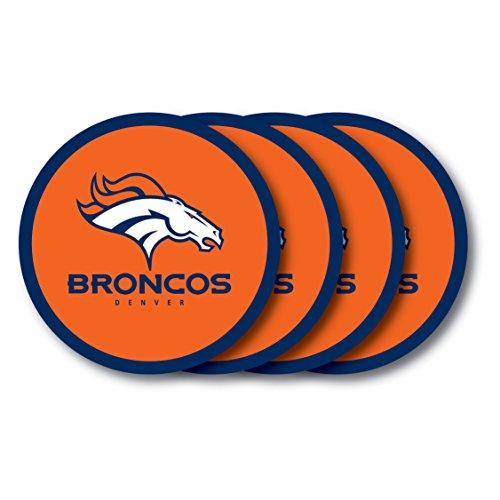 - NFL Denver Broncos Vinyl Coaster Set (Pack of 4)