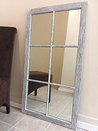 - Large Distressed Frame Farmhouse Mirror, 48