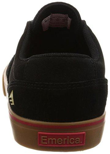 Black Toy Gum Emerica Provost Machine Slim X Vulc Scarpe da Skateboard Uomo 4UIxPIvqwr