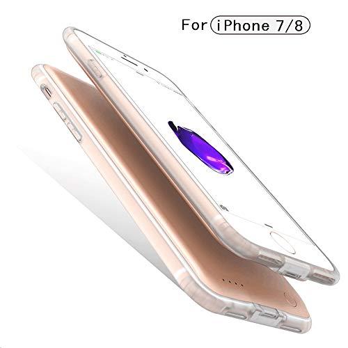 ba3eb2ff21 バッテリー内蔵ケース 軽量 超薄 大容量 急速充電 バッテリーケース iPhone 8/7