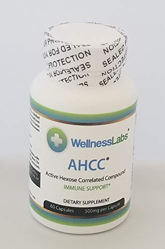AHCC (Active hexose correlated Compound) 60 Capsules of 500 mg. (Compound Capsules 60)