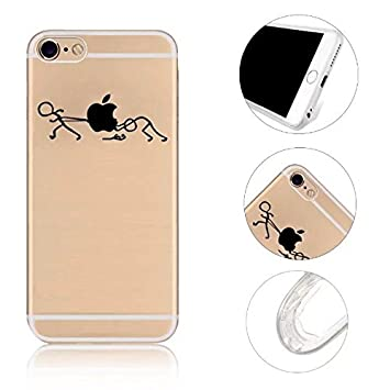 54bb2d20bc3 iPhone SE Funda iPhone 5S Funda,MingKun Push-pull Pintado Transparente  Cover para iPhone 5 5S SE TPU Casco de Silicona Suave Cascara: Amazon.es:  Electrónica