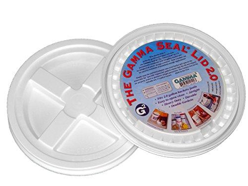 2 Gamma Seal Lids for 2-Gallon Standardized Buckets (do NOT fit 5 gallon (Dimensions 5 Gallon Bucket)