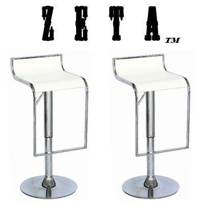 Zeta Contemporary Adjustable Synthetic U0026quot;Leatheru0026quot; Bar Stool ...