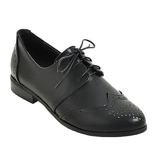 Vrijstaande Dames Neutraal Comfort Lage Hak Oxfords Schoenen Zwart