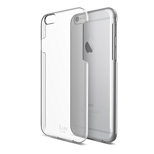 iLuv Clear Lightweight Hardshell Protective Case with Raised Lip On Edge, Form-Fitting Construction, UV Coating, and Access to All Ports and Controls for iPhone 6 Plus / 6s - Screen Clear Iluv