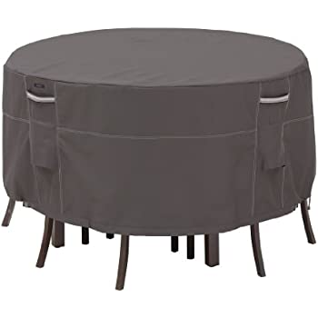 Classic Accessories Ravenna Bistro Patio Table & Chair Set Cover - Premium Outdoor Furniture Cover with Durable and Water Resistant Fabric (55-186-015101-EC)