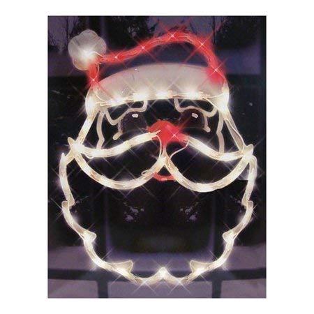 Mattsglobal Indoor Outdoor 95013 25x1x17 Santa Face Ornamental Window Decoration