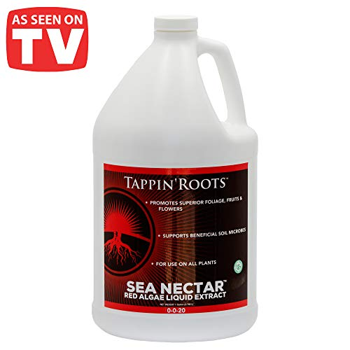 Nutrient Commercial System (1 Gallon Tappin' Roots Sea Nectar Fertilizer Food Liquid Concentrated Nutrient Solution Organic Roots Accelerator for Plant, Vegetables and hydroponics.)