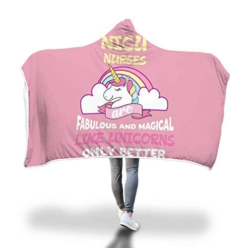 Awesome Fun Stuff Unicorn Hooded Blanket Cloak NICU Neonatal Nurse Appreciation Sherpa Wrap Throw ()