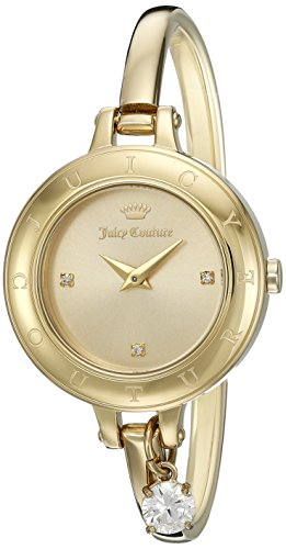 - Juicy Couture Women's 'Melrose' Quartz Tone and Gold-Plated Casual Watch(Model: 1901432)