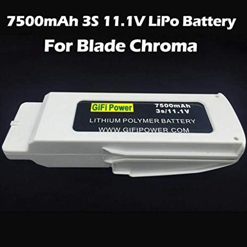 TwoCC Drone Aircraft Toy, Batterie 11.1V 7500Mah Lipo améliorée pour pièce de rechange pour drone Blande Chroma Rc