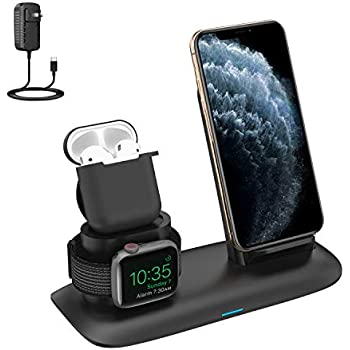 Amazon.com: Wireless Charger, 3 in 1 Charging Station for ...