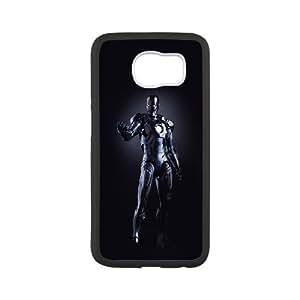 Samsung Galaxy S6 Cell Phone Case Black_Ironman Dark Figure Hero Art Avengers Lszvh