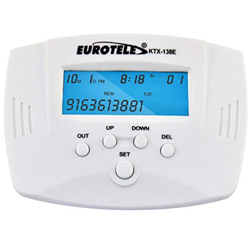 OLLGEN Dual Signal FSK/DTMF Phone Call Box Caller ID Display Without Call Blocker (White) - Wireless Caller Id