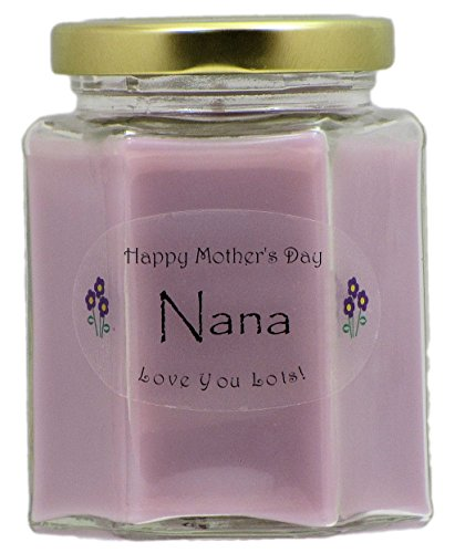 (Just Makes Scents Nana Mothers Day Candle - Lilac Scented Candle - Hand Poured in The USA)