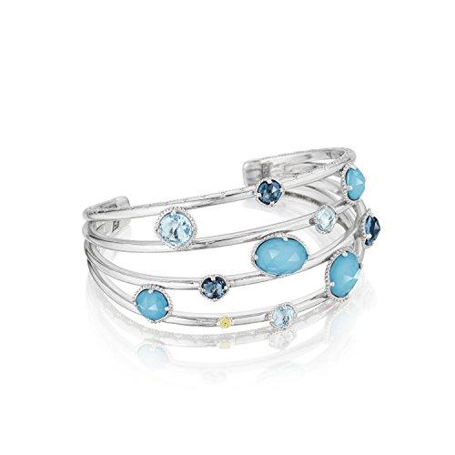 Tacori SB156050233 Sterling Silver Floating Gem Cuff Bracelet featuring Assorted Gemstones by Tacori