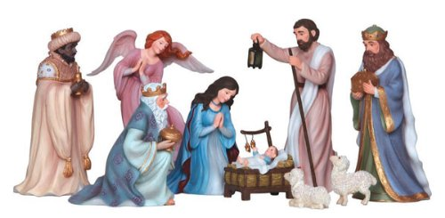 9 Piece Pipka Set Nativity Set Figurine by Precious Moments