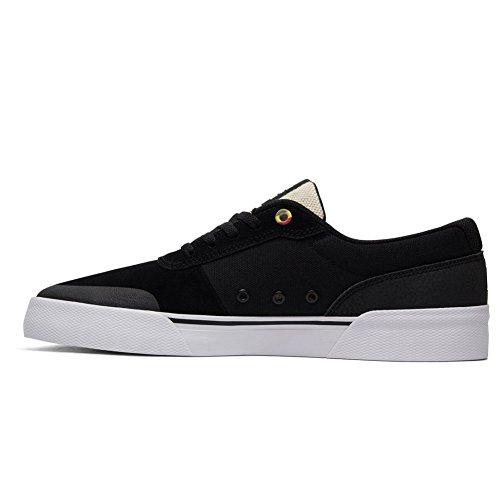 Dc Mens Switch Plus Sneakers Da Skate Nero / Bianco / Rosso