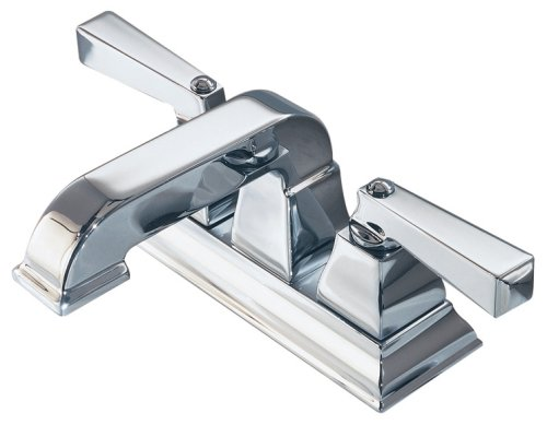 American Standard 2555.201.002 Town Square Two-Lever Handle Centerset Lavatory Faucet with Speed Connect Pop Up Drain, Polished - Town Square Stores