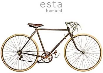 fotomural de papel pintado XL vieja bicicleta blanco, marrón y ...