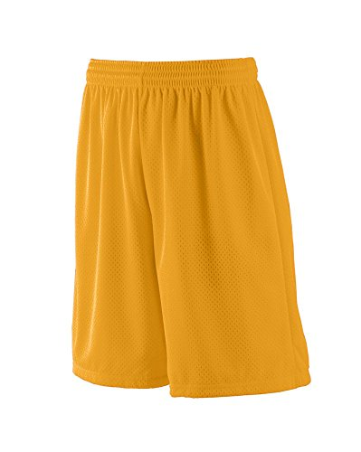 Augusta Sportswear Men's Long Tricot MESH Short/Tricot Lined L Gold