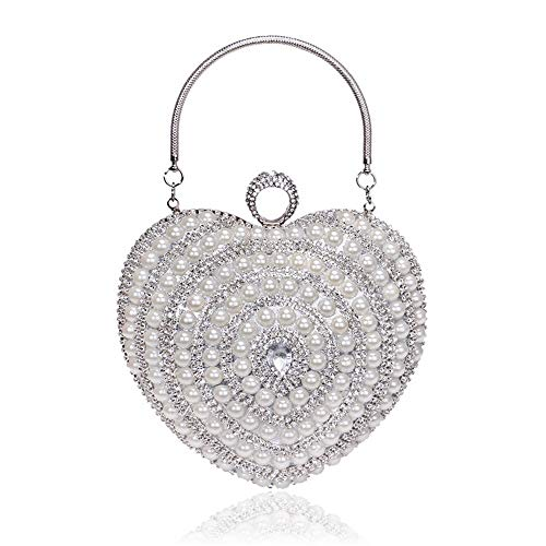 New Pearl Handle Dinner Bag Europe and America Fashion Banquet Dress Evening Bag Silver 16cm15cm8cm