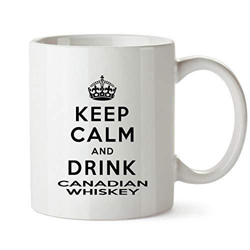 Idakoos Keep calm and drink Canadian Whiskey Mug 11 ounces ()
