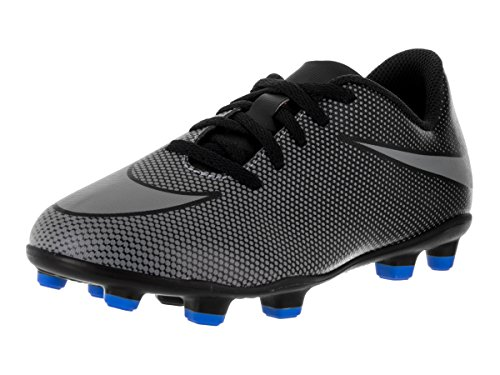 Nike Kids Jr Bravata II FG Black/Cool Grey/Photo Blue Soccer Cleat 1.5 Kids US