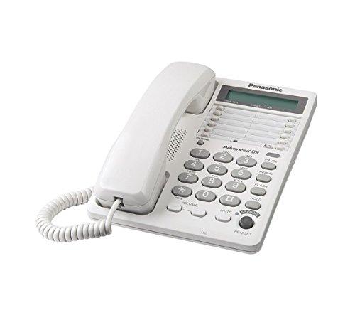 Panasonic KX-TS108W Corded Phone with Clock, White