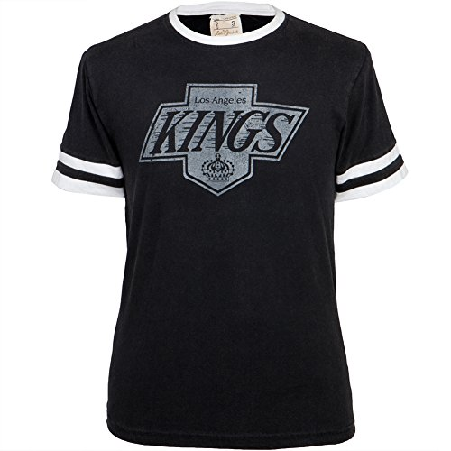 Los Angeles Kings - Logo Remote Control Black Adult Jersey T-Shirt - X-Large