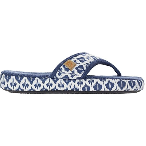 Acorn Women's Thong Summerweight Navy Tribal Large M
