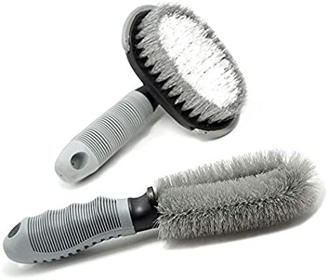Auto Car Wash Brush Wheel Detailing Scrubber Tool for Motorcycle Bicycle