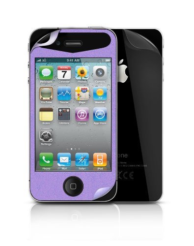 (iSkin Glam Screen Film for iPhone 4/4S Purple, (IP4FLMG-PE))