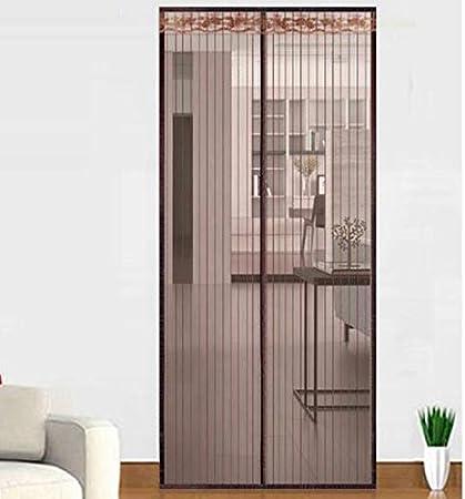 Summer home mesh net anti-mosquito fly cortina de puerta cierre automático magnético cortina de pantalla de puerta A2 W100xH210